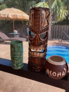 Kate Dolan is trying to turn her backyard into a tiki bar