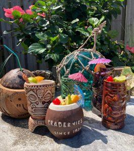 tiki drinks recreated in Kate Dolan's backyard