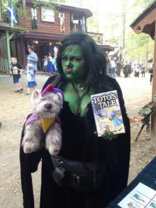 Toto and his nemesis pose at the Maryland Renaissance Festival
